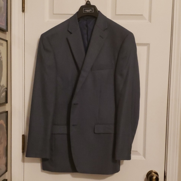 Chaps Other - Dark Blue small checkered patterned Blazer